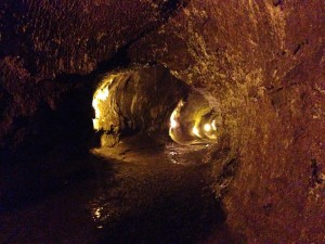 Walking through the lava tube